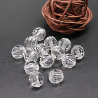 100x 6mm Crystal Acrylic Faceted Rondelle Loose Spacer Beads Jewelry Findings