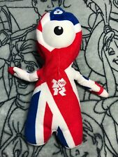 B London 2012 Olympics Union Jack Red Blue Plush Soft Toy Teddy Wenlock Mascot