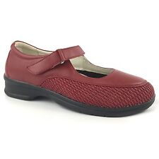 propet ped rx women red shoes 10 leather rubber sole rex insole strap low heel
