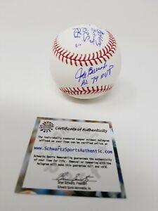 Jeff Burroughs AL 74 MVP AUTOGRAPHED SIGNED 4 INSCRIPTIONS BASEBALL BALL SS