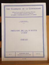 Bach Prélude 5e suite transcription contrebasse Delmas-Boussagol Leduc