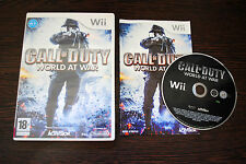Jeu CALL OF DUTY WORLD AT WAR pour Nintendo Wii PAL COMPLET (CD OK)