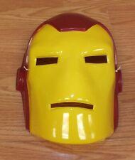 2010 Marvel Disguise Iron Man Plastic Halloween Adult Size Mask *Thin Plastic*