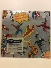 Collectible Birthday Gift Wrap MARVEL SUPER HEROES Ambassador '84