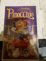 PINOCCHIO Goodtimes  VHS  NEW  Never played! Original USA release HTF OOP rare