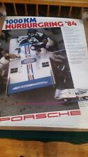 Porsche factory showroom poster 1000 km nurburgring 1984