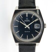 Vintage 1973 Omega Automatic Geneve Men's Steel Wrist Watch 166 0118 No Res!