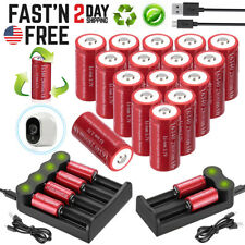2800mAh CR123A 16340 Batteries Rechargeable Li-ion Battery/USB Smart Charger Lot