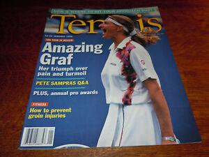 "VINTAGE JANUARY 1996 "" TENNIS "" MAGAZINE - STEFFI GRAF COVER"