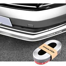 Universal Carbon Fiber Front Bumper Lip Splitter Chin Spoiler Body Kit Trim Whit