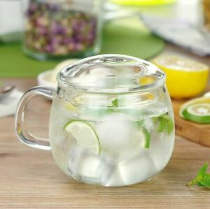High Borosilicate Small Glass Tea Cup With Infuser Tea Maker Coffee Mug 300ml