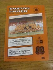 19/09/1990 Boston United v Colchester United [Colchester First Non League Season