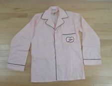 Nick @ nite i love lucy womens size small pajama  top blouse shirt pink hers