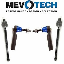 NEW Pair Set of 2 Inner & Outer Tie Rod Ends Mevotech For Buick Chevy GMC Acadia