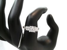 WOW 1CTTW 3-Stone REAL Diamond Engagement Ring $7500! 14K GOLD! NO RESERVE!
