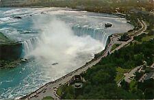 Skylon Niagara Horseshoe Falls Niagara Falls Canada aerial view Postcard