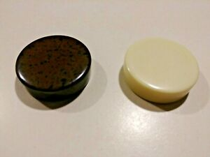 """Backgammon Replacement Pieces Chips 1-5/16"""", Cream/Ivory & Brown Speckled, Lot 2"""