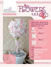 Anita Goodesign Embroidery Machine Design CD FLOWERS 1,2,3 PREMIUM COLLECTION