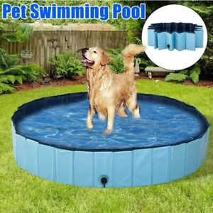 Foldable Dog Pool Pet Swimming Pool Pet Summer Bathing Tub for Dogs Cats