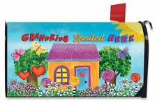 Grandkids Spoiled Here Floral Magnetic Mailbox Cover Everyday