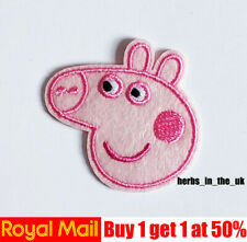 Cute head Iron On / Sew On Patch Badge