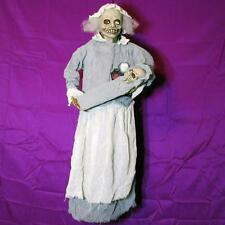 CREEPY OLD LADY w/BABY~SINGS LULLABY~LIGHTS UP~Hanging Halloween Prop Decoration