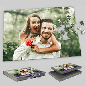 Custom Puzzle 300 Piece Jigsaw with Box Personalised Picture Photo Adult Gift
