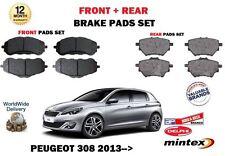 Peugeot 308 1.6 THP 1.6 Hdi 2013 > Neu Vorder + Hintere Scheibenbremsbeläge Set