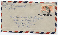 1949 Hong Kong to USA consular cover pair of $1 George VI issue [y2717]