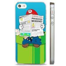 Super Mario Nintendo 90s Funda de teléfono claro de suplantación de identidad se adapta iPHONE 5 7 8 X 6