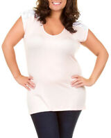 Soft Pink Lace Accent Plus Size Tunic Top 2XL New
