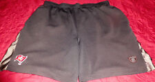 New MEN'S AUTHENTIC NFL Tampa Bay Buccaneers LINED TRAINING SHORTS BLACK Sz L
