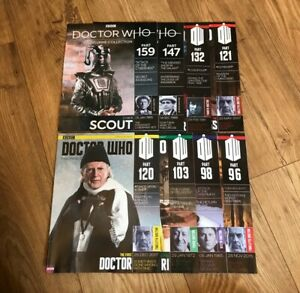 Doctor Who 8 Various Eaglemoss Figurine Collection Magazines