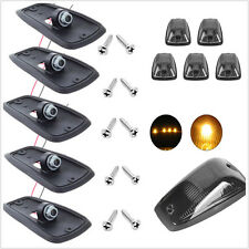 5 X 12V Durable Smoke Lens Car SUV 4WD Cab Roof Top Marker Running Lights Covers
