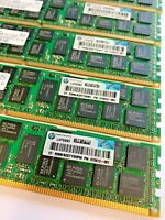 128GB  8 x 16Gb 2Rx4 PC3-12800R DDR3-1600 ECC Genuine HP Memory 672631-B21
