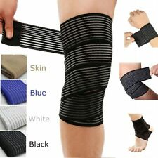 Knee Wraps Weight Lifting Bandage Straps Guard Pads Sleeves Powerlifting Gym New
