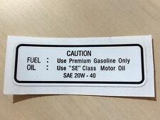 Service sticker tank decal oil Yamaha XT500 '80- fuel resistant reproduction