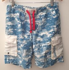 Men's Swimming Shorts Size S Blue And White Bench <NH9376
