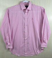 Polo Ralph Lauren Boyfriend Fit pink button Shirt Womens Size 12 :)