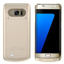 Arc® Samsung Galaxy S7 External Battery Case Charger Bank 4200mAh Stand Gold