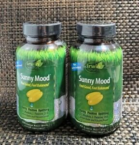 2 PK Irwin Naturals Sunny Mood Feel Good & Balanced Clarity Positive EXP:09/21+