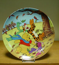 Bradford Exchange Plate-A Blustery Day is best w/Friends Fun in 100 Acre Woods
