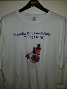 Benefits of Essential Oils T-Shirt Young Living XL