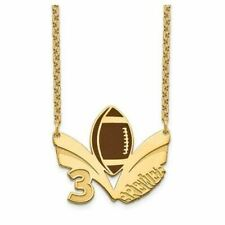 GP Epoxied Football Necklace with Name and Number