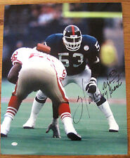 fc6565e06 Harry Carson Autographed 16x20 New York Giants Hall of Famer (Blue Jersey)