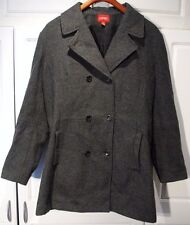 Esprit - XL - Heavy Gray 90% Wool Double-Breasted Coat/Jacket EXTRA LARGE