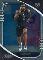 Panini NFL Football Absolute 2020 Card No. 123 Damon Arnette Rookie Card RC