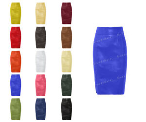 Genuine Leather Sexy Lady Calf Length Pencil Skirt Office lady Club skirt #S31