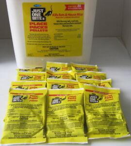 Just One Bite II Pellets - 12 Packs -1.5 Oz Each Rat & Mouse Poison - Free Ship