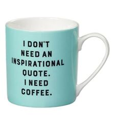 New Wild & Wolf Inspirational Quote Mint Green China Mug Gift Boxed Coffee Cup